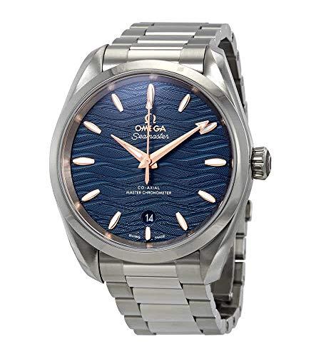 Omega Seamaster Aqua Terra Co-Axial Master Cronómetro Automático Dial Azul Reloj de Hombre 220.10.38.20.03.002