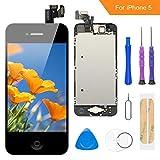FLYLINKTECH Écran LCD Tactile de Remplacement pour iPhone 5 Noir 4.0 Pouces,modèle Complet...