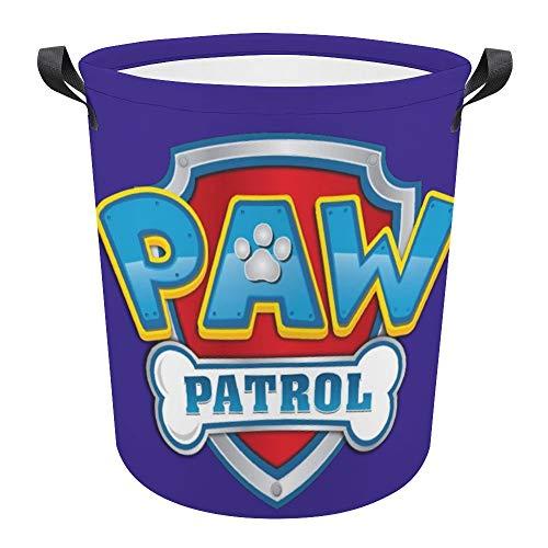 P-A-W P-atrol Cesta plegable impermeable de 17.3 pulgadas, cesta de lavandería sucia, caja de almacenamiento para colección de juguetes