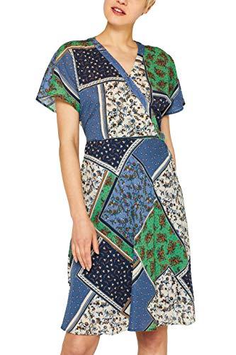 edc by ESPRIT Damen 049CC1E015 Kleid, Blau (Grey Blue 420), (Herstellergröße: 40)