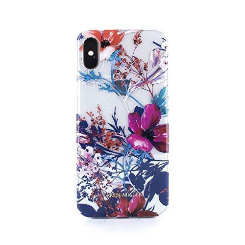 Karen Millen Hoge Kwaliteit Bloemen Harde Shell Cover voor Apple iPhone X - Helder