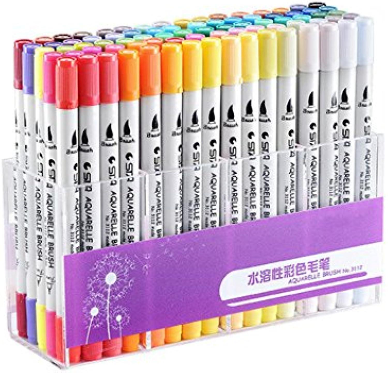 lilarain Doppelkopf wasserlösliche wasserlösliche wasserlösliche weiße Stift Körper Fine Marker - MultiFarbe (Packung à 80) B07FQKTLB5     | Attraktives Aussehen  4edd22