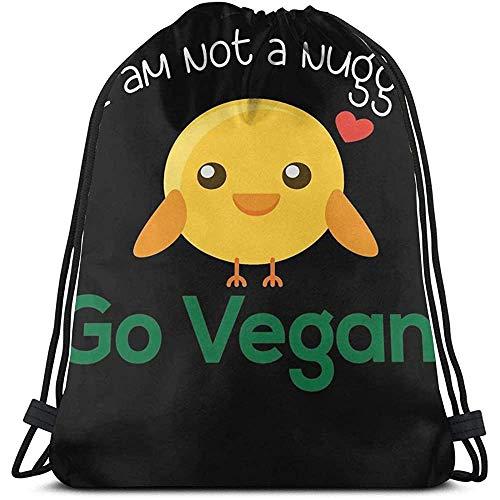 Niet toepasbare Cinch Bags Ik ben geen nugget Go Vegan kip cadeau reizen fitness tas nonchalant Universal trekkoord rugzak druk cinch tassen sport laptop school