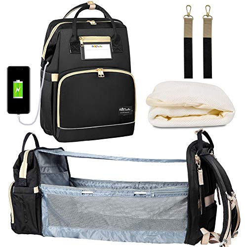 Happy Luoka Diaper Backpack with Charging Port, Insulated Bottle Warmer...