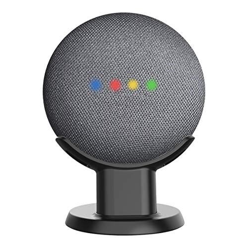 Cozycase Soporte para Google Home Mini, Nest Mini - Soporte de Escritorio para Montaje en Soporte, Mejora la Visibilidad y Apariencia del Sonido, Estuche de Seguridad Compacto en cocinas (Negro)