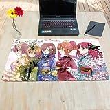 新品 五等分の花嫁 中野五姉妹着物人気 超大型超厚サイズ設計マウスパッドテーブルクロス75×40サイズ
