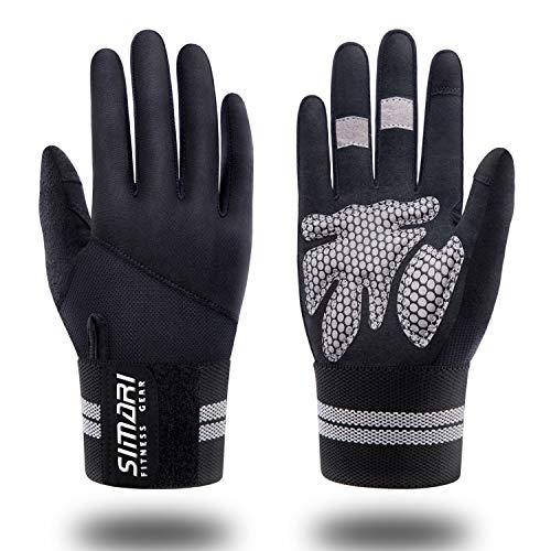 SIMARI Workout Gloves Men Women Full Finger Weight Lifting Gloves