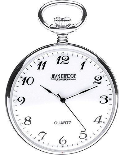Plata esterlina Reloj de Bolsillo Abierto Frente -