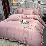 juego de ropa de cama 135x190,Hojas de cama de hielo europeo de cuatro piezas de estilo europeo de cuatro piezas de Sailbrrie Set de seda naked de cuatro piezas regalo del día de la madre-A_1.8m cama