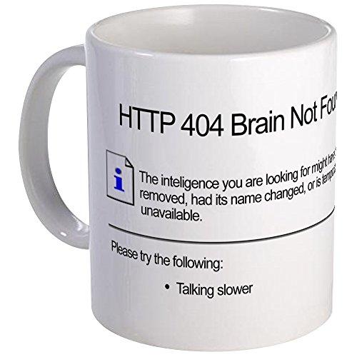"CafePress Geek ""404 Error"" Kaffeetasse, weiß, S"