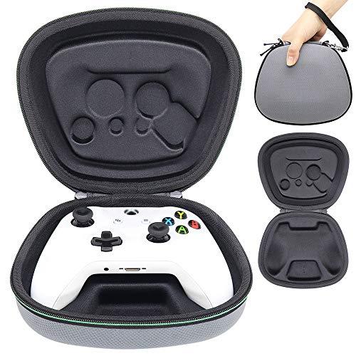Sisma Funda rigida para Mando wireless Xbox One - Estuche de transporte para guardar y proteger Gamepad original de Xbox One S o One X, color gris
