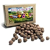 US Native Wildflower Seed Ball Kit. Makes 100 Wildflower Seed Bombs for pollinators. (EasternUS)