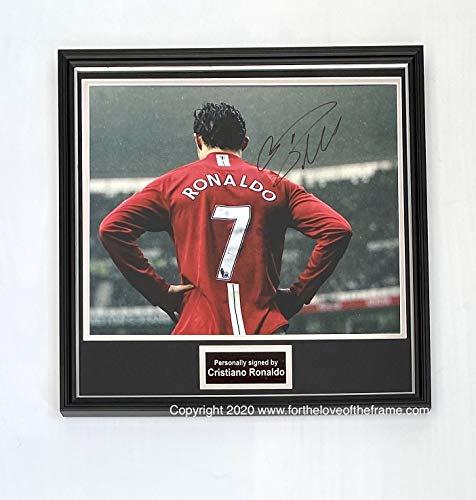 For the love of the frame Gerahmtes Foto von Cristiano Ronaldo Manchester United Fußball, handsigniert, mit Echtheitszertifikat