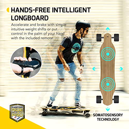 "SWAGSKATE NG2 38"" A.I. Powered Electric Longboard Skateboard Hands-Free or Remote Control 900W Dual-Hub Brushless Motor 3.5"" x 52mm PU Wheels"