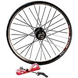 Rueda Delantera Posterior de la Bicicleta 20 Pulgadas 406 BMX Bicicleta Plegable de Ruedas 100/135mm V Freno / Disco de Freno Ciclismo Ruedas 32 Hoyos Velocidad 8/9 ( Color : Disc , Size : Wheel set )