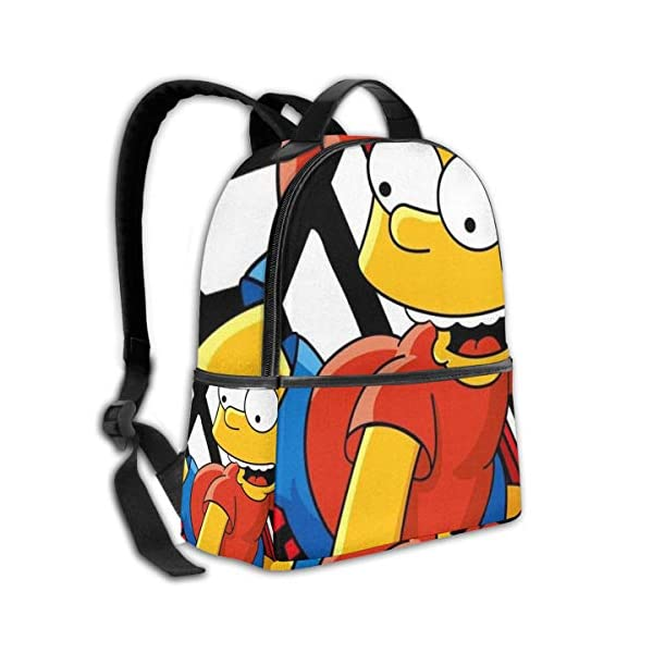 51SGZQDVyEL. SS600  - Cartoon Simpsons - Mochila para estudiantes, unisex, diseño de dibujos animados, 14,5 x 30,5 x 12,7 cm