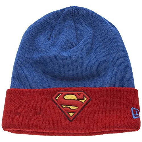 New era Marvel Superman Beanie Char Contrast Cuff Blue/Red - One-Size