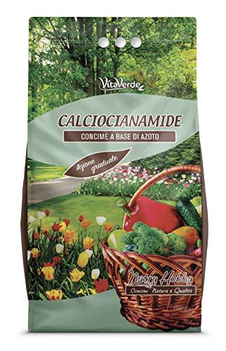 CALCIOCIANAMIDE GRANULARE, concime azoto calcio per ortaggi, kg 5