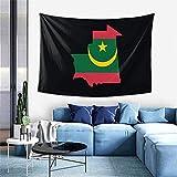 Mauretanien Flagge Tapisserie gedruckt Vintage Wandbehang Hippie für Schlafzimmer Schlafsaal Decke Home Decor Wand 60x40inch