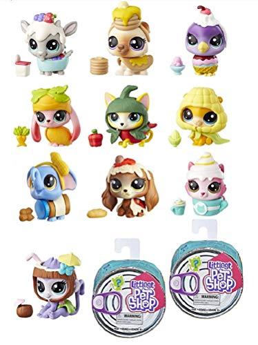 LPS Littlest Pet Shop Hungry Pets Set of 10 ( Includes x2 Bonus! ) Includes 12 Pets