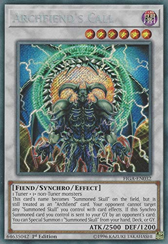 Yu-Gi-Oh! - Archfiend's Call - FIGA-EN032 - Secret Rare - 1st Edition - Fists of The Gadgets