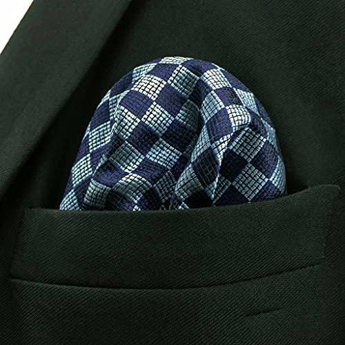 SLATIOM Negocio Multicolor Pocket Mens Clásico Traje Regalo Pañuelo Cheques ACCEOSSORIOS (Color : B, Size : 32x32CM)