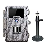 OUDMON Trail Game Camera, 1080P Hunting Cam for Wildlife with Night Vision Motion Activated and No Glow IR LEDs, Waterproof IP67
