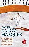 Chronique d'une mort annoncée par Garcia Marquez