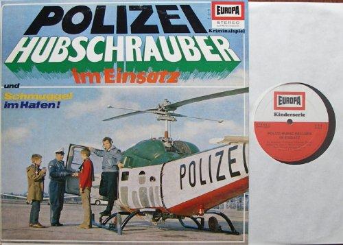 """Kriminalspiel POLIZEI HUBSCHRAUBER im Einsatz und Schmuggel im Hafen / Neuaufnahmen März 1967 / Bildhülle EUROPA # E 219 / 12\"""" Vinyl Langspiel Schallplatte"""