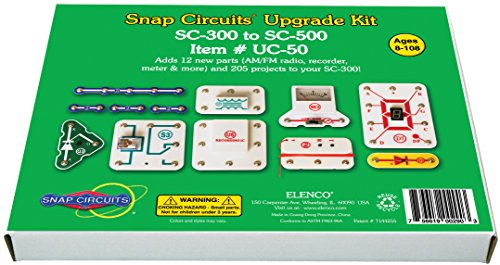 Snap Circuits UC50 Electronics Exploration Upgrade Kit | SC300 to SC500 | Upgrade Classic to Pro