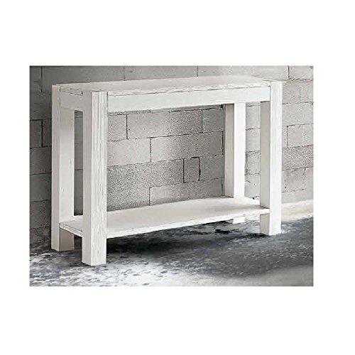 InHouse srls Table Console en Sapin Blanc brossé, Style Moderne - Dim. 105 x 35 x 75