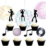 Set of 35 LaVenty 70's Disco Cupcake Topper...