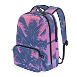 Linomo - Mochila infantil extraíble, para verano, con diseño de palmera, para negocios, colegios o viajes, mochila escolar, mochila de día para niños, niñas, mujeres y hombres