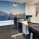 WFLRF Boden stehender Pull-Up Roller Banner Nieschutz Klarer PVC Social Distancing Screen Schutz Nieschutz Schutzschirm für Bürogeschäfte Restaurant Klassenzimmer,80×200cm