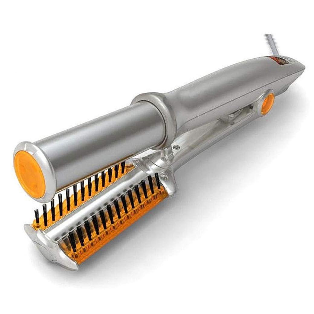 対象ファイバ否認するヘアカーラーローリングデュアルパーパス多機能ヘア電気セラミックカーリングアイロン自動カーリングロッドシルバー110-240ボルト