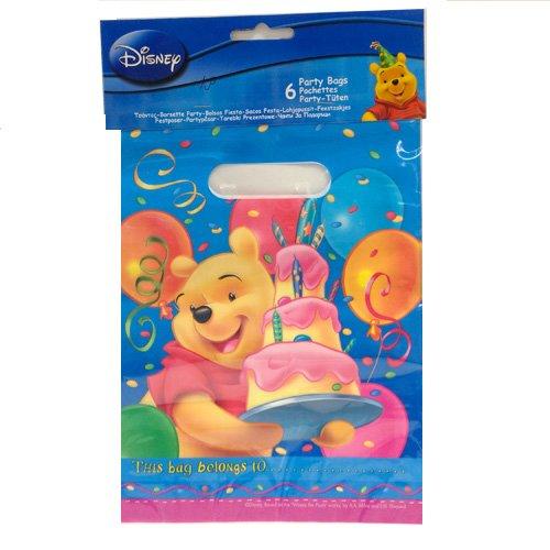 Partytüten * Winnie Pooh Birthday* 6 Stück / 16 x 23 cm