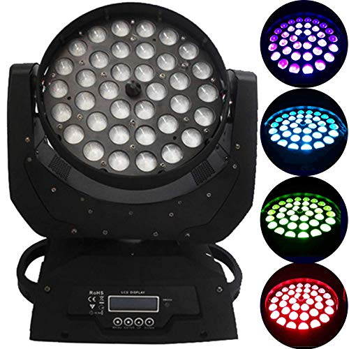 sahadsbv 36X10W LED Stage Lights 4 Color Beam LED Stage Lighting RGB Par Lights Controllo DMX512 per Club DJ Show Home Party Ballroom Bands Show