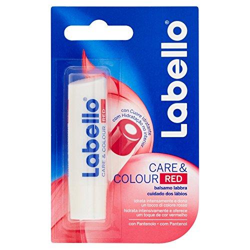 Labello Care & Colour Red Balsamo Labbra Colorato Rosso - 4.8 Gr