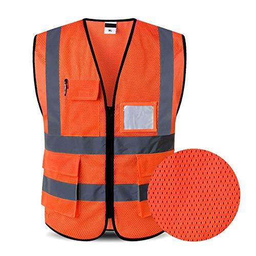 Reflecterend vest veiligheidsvest voor werkkleding met logo-opdruk veiligheidsvest voor werkkleding veiligheidsvesten met reflecterende strepen X-Large oranje