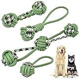 KaraLuna 4-teiliges Hunde Seilspielzeug I Für kleine, mittlere und große Hunde I Stabil, robust und reißfest