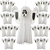 Robelli - Pack de 20 x 52 cm 3D de Papel Halloween Fantasmas – Trick or Treat decoración para Colgar Fiesta
