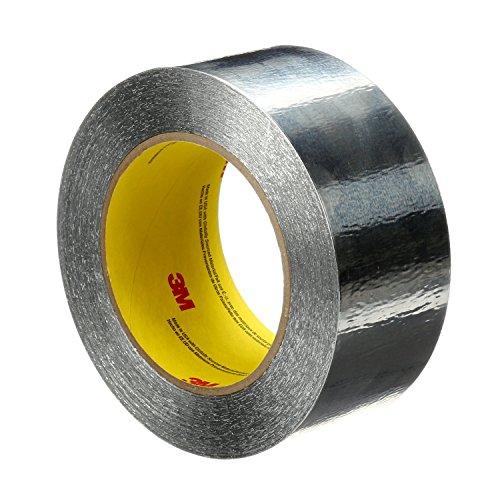3M 85313-case Aluminum Foil Tape, 4 in x 60 yd 4.6 mil, 425, Aluminum Foil, Silver (Pack of 2)