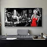 WTYBGDAN Klassischer Filmstar Marilyn Monroe Wandkunst