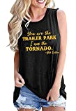 Beth Dutton Tank Tops for Women Vintage Funny Summer Casual Muscle T-Shirt Retro Country Music Party Tee Vest (Medium, Trailer-Dark Grey)