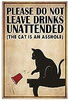 レトロおかしい金属錫サイン12x 16インチ(30 * 40 cm)子猫 ブリキ看板警告通知パブクラブカフェホームレストラン壁の装飾アートサインポスター(gs-1-58)
