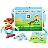 Erste Hilfe Set Baby Von Yellodoor - Mini Verbandskasten Für Kinder - Ideal Für Handtasche, Auto, Rucksack Und Reise - Kit Enthält Desinfektionsmittel, Pflaster, Fieberthermometer Und Spielzeugpuppe