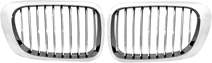 Astra Depot Chrome Front Kidney Grille Grill Replacement For BMW E46 2-Door 1999-2002