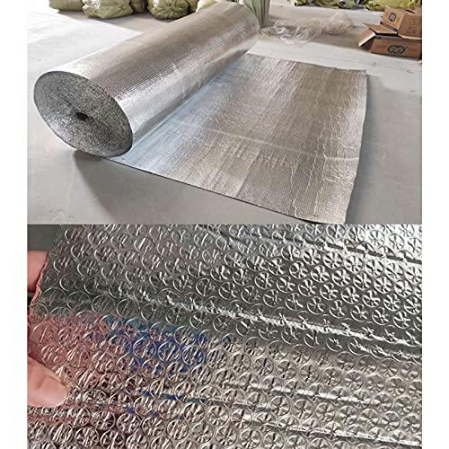 Rotolo Isolante Riflettente Foil Lamina Termoriflettente E Isolante 4mm Double Alluminio Pellicola Bolla In Alluminio 100% Impermeabile Per Termosifoni Porte Portelloni Di Garage Finestre(Size:1m*20m)