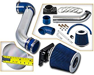 Rtunes Racing Short Ram Air Intake Kit + Filter Combo BLUE Compatible For 01-05 Dodge Stratus / 00-05 Mitsubishi Eclipse / 99-03 Mitsubishi Galant …