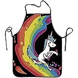 Myrdora Novità Grembiule da Cuoco Unisex Rainbow Unicorns - Grembiule da Cuoco per cucinare, cuocere, creare, Fare il giardinaggio e Barbecue